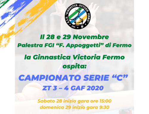 """CAMPIONATO SERIE """"C"""" ZT 3 – 4 GAF – FERMO 28/29 NOVEMBRE 2020"""